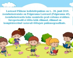 Lasteaed Päikene kollektiivpuhkus